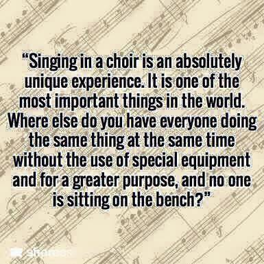 singing in a choir